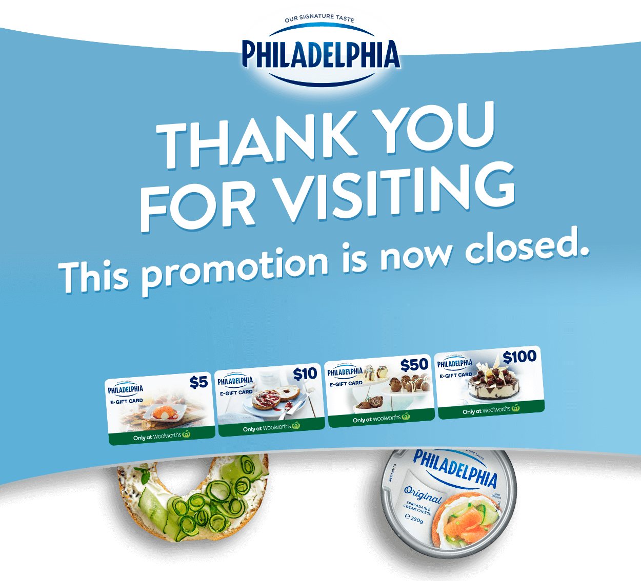 PHILADELPHIA - Thank you for visiting. This promotion is now closed.